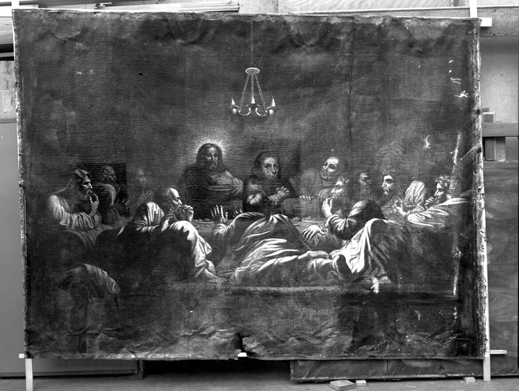 Peinture sur toile : La Cène