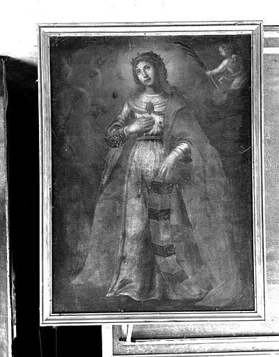 Peinture sur toile : Sainte Catherine d'Alexandrie