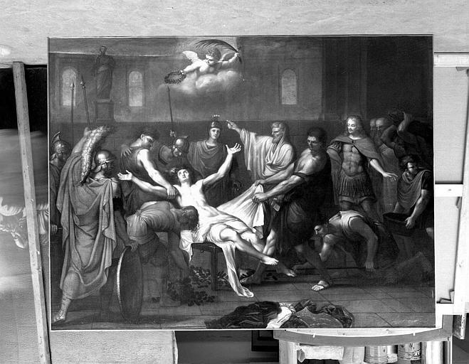 Peinture sur toile : Le Martyre de saint Laurent