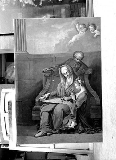 Peinture sur toile : Saint Joachim, sainte Anne et la Vierge