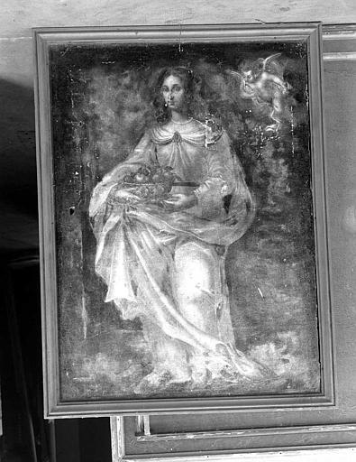 Peinture sur toile : Sainte Dorothée ?