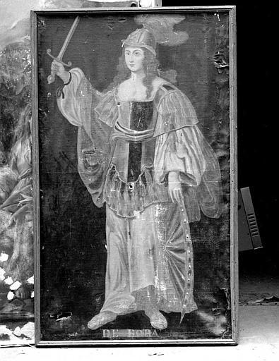 Peinture sur toile de la série des neuf Preuses : Débora
