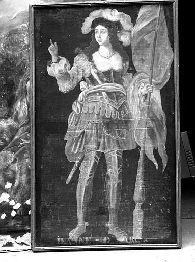 Peinture sur toile de la série des neuf Preuses : Jeanne d'Arc