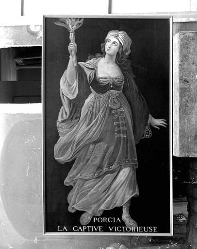 Peinture sur toile de la série des neuf Preuses : Porcia la captive victorieuse