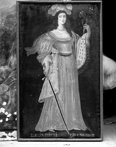 Peinture sur toile de la série des neuf Preuses : La Judith Françoise