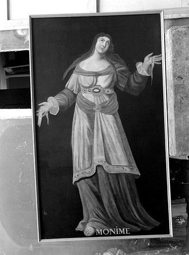 Peinture sur toile de la série des neuf Preuses : Monime