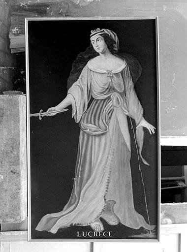 Peinture sur toile de la série des neuf Preuses : Lucrèce