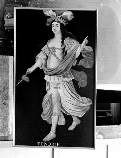 Peinture sur toile de la série des neuf Preuses : Zénobie