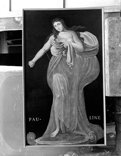 Peinture sur toile de la série des neuf Preuses : Pauline