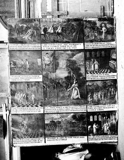 Peinture sur toile : Les miracles de Notre-Dame de Malaise