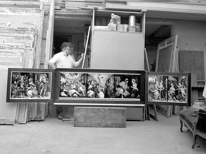 Panneaux peints du triptyque : Scènes de la Vie du Christ et de la Vierge