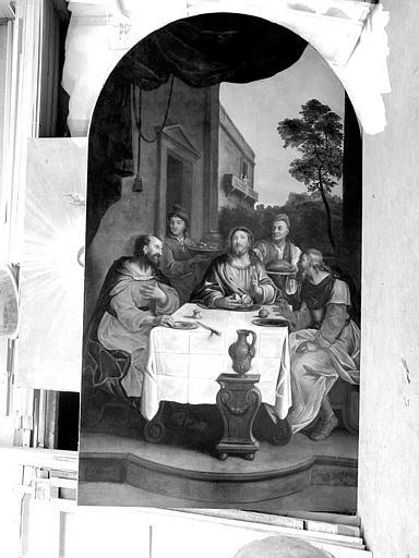 Peinture sur toile : Les pélerins d'Emmaüs