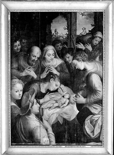 Panneau peint : La Nativité