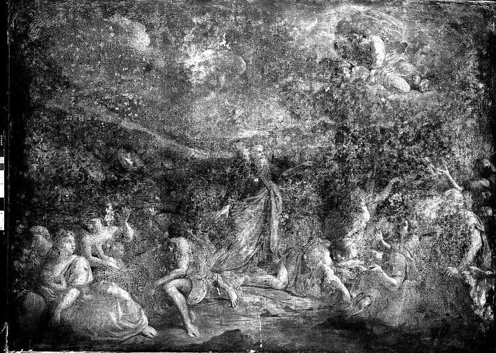 Peinture sur toile : Moïse frappant le rocher