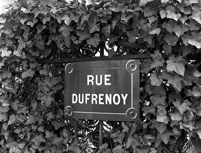 Plaque de la rue Dufrenoy