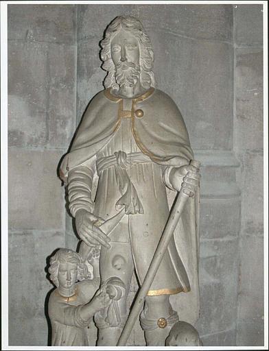 Statue : saint Roch, vue rapprochée
