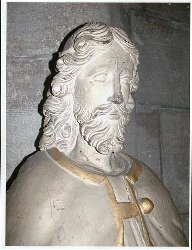 Statue : saint Roch, visage