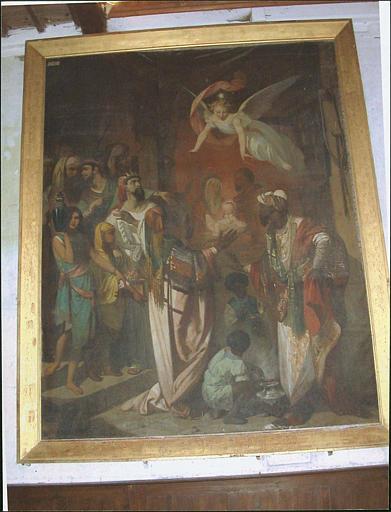 Tableau et son cadre : l'Etoile de Bethléem