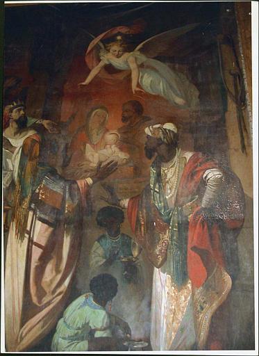 tableau et son cadre : l'Etoile de Bethléem, vue rapprochée