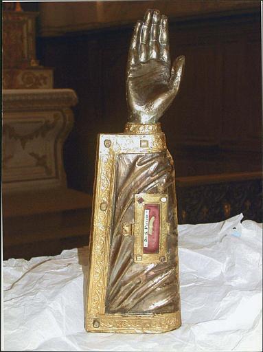 Bras-reliquaire de saint Fiacre