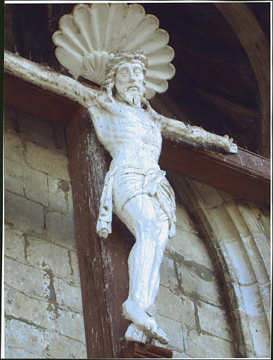 croix : Christ en croix, détail du Christ