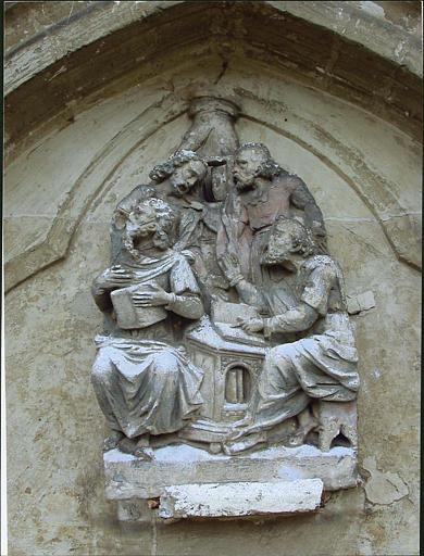 Relief : les quatre évangélistes