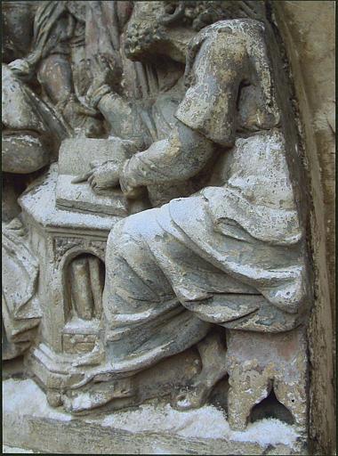 Relief : les quatre évangélistes, détail partie droite