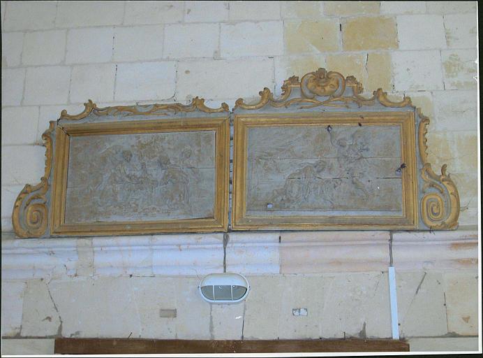 Deux reliefs : Annonciation, Adoration des bergers