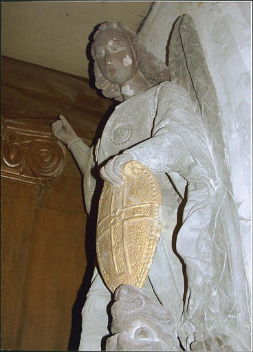 Groupe sculpté : saint Michel terrassant le dragon, détail