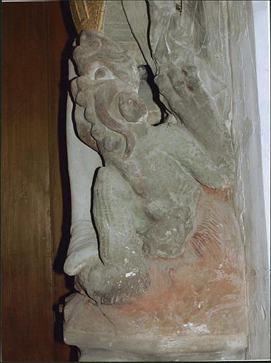 Groupe sculpté : saint Michel terrassant le dragon, détail du dragon
