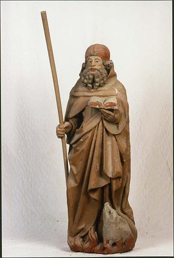Statue : saint Antoine ermite