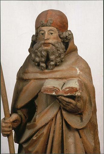 Statue : saint Antoine ermite, vue rapprochée