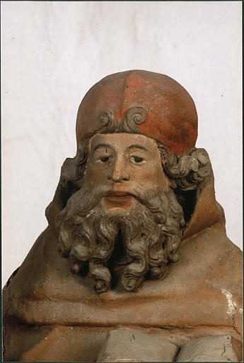 Statue : saint Antoine ermite, visage