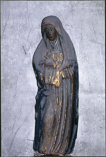 Calvaire, poutre de gloire : détail de la Vierge