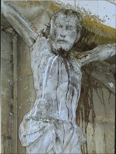 Croix : Christ en croix, partie haute du corps