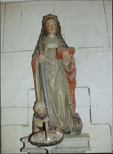 Statue : sainte Catherine d'Alexandrie, vue d'ensemble