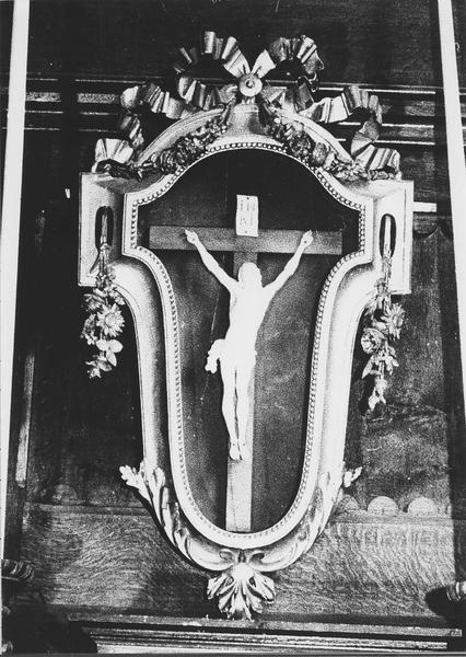 croix encadrée : Christ