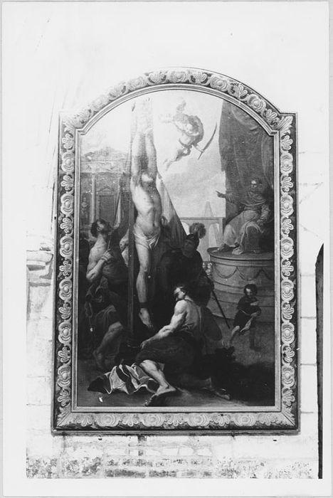 Tableau : Le Martyre de saint Sébastien, cadre
