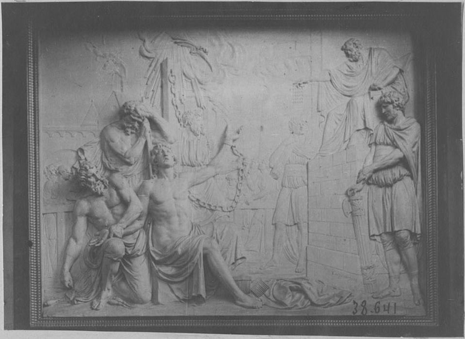 Bas-relief : Le Martyre de saint Quentin