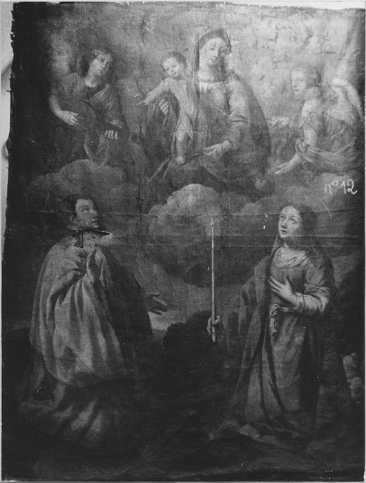tableau : La Vierge avec sainte Geneviève