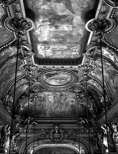 Décor du plafond du Grand Foyer : Vue d'ensemble