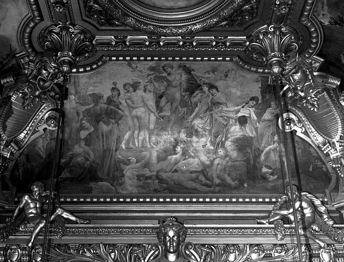 Décor du plafond du Grand Foyer : Le Parnasse