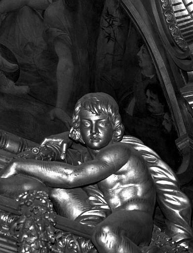 Décor du plafond du Grand Foyer : Portraits de Charles Garnier ? (détail du Parnasse)