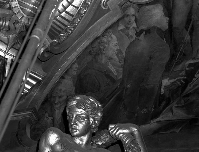 Décor du plafond du Grand Foyer : Portraits de musiciens, Lully, Rameau, Hayden, Gluch, Mozart, Beethoven (détail du Parnasse)