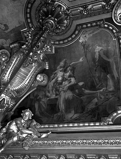 Décor du plafond du Grand Foyer : Saül et David