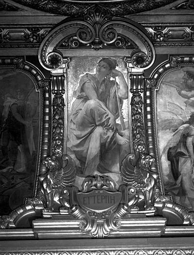 Décor du plafond du Grand Foyer : Euterpe