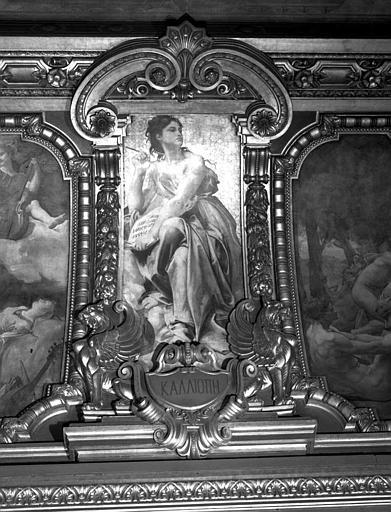 Décor du plafond du Grand Foyer : Calliope