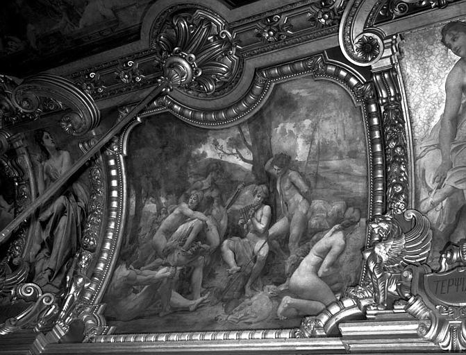 Décor du plafond du Grand Foyer : Les bergers