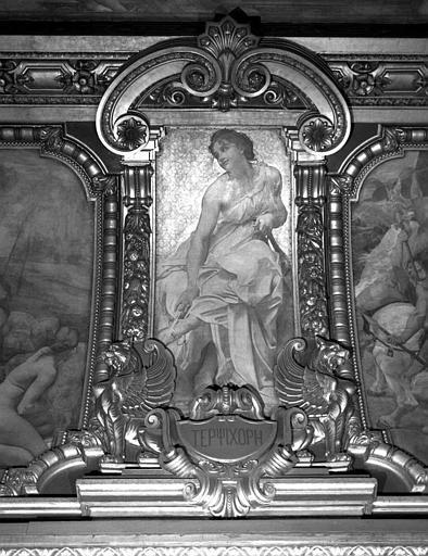 Décor du plafond du Grand Foyer : Terpsichore