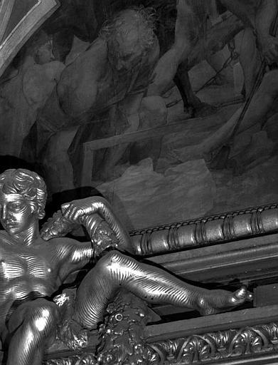 Décor du plafond du Grand Foyer : Les Poètes (détail)